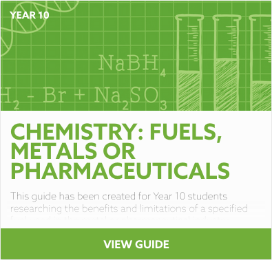Chemistry: Fuels, Metals or Pharmaceuticals reading list