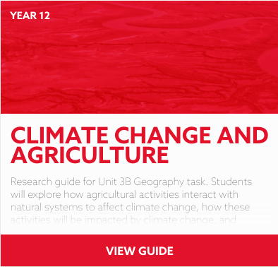 Climate Change and Agriculture reading list