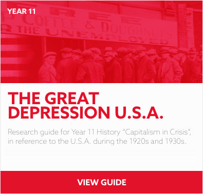 The Great Depression reading list