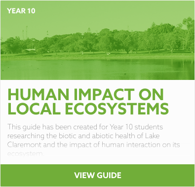 Human Impact on Local Ecosystems reading list