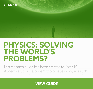 Physics: Solving the World's Problems? research guide