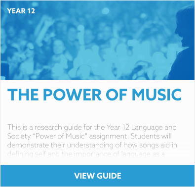 The Power of Music reading list