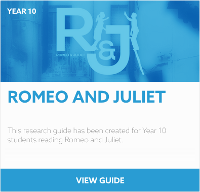 Romeo and Juliet reading list