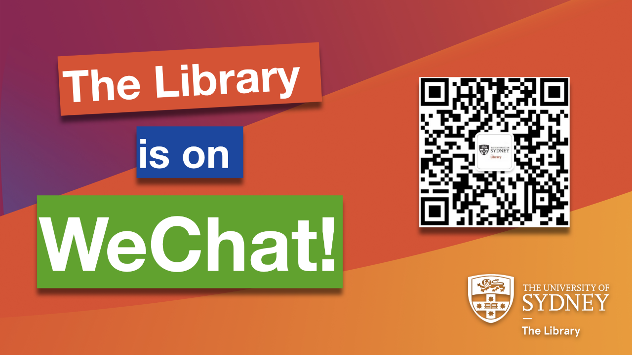 University of Sydney Library WeChat QR Code