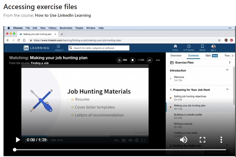 Exercise files course screenshot