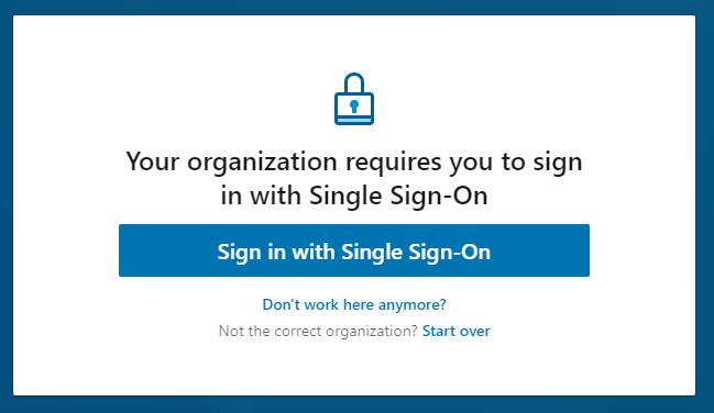 linked in learning single sign on screenshot