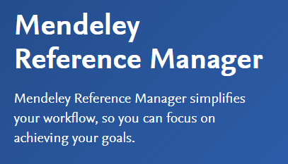 Mendeley blurb screenshot