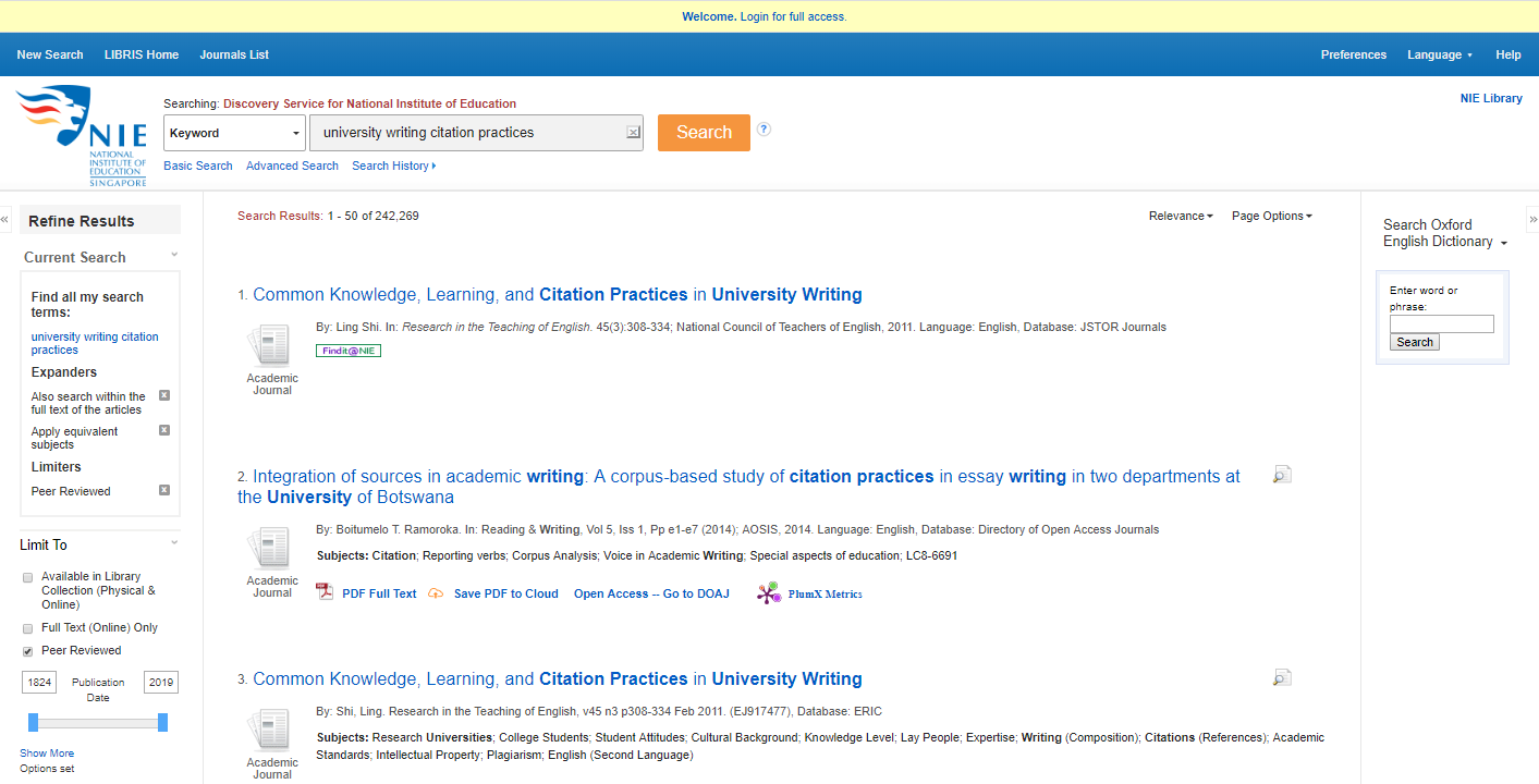 Journal Articles - Find by Type - LibGuides at National