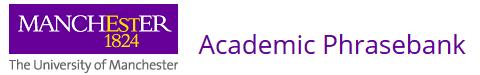 Academic Phrasebank - University of Manchester