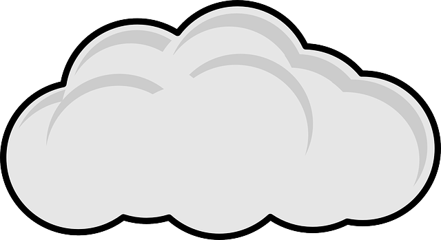Image: Fluffy grey and white cloud clipart