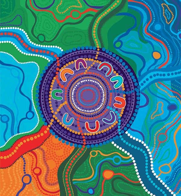 Welcome aboriginal artwork