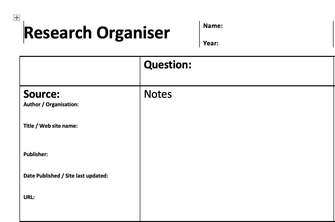 Research Organiser
