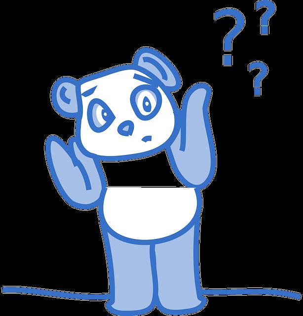 Panda question marks