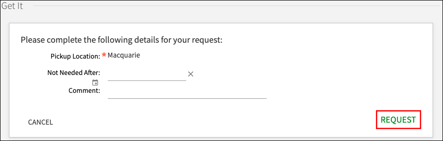 Automatic retrieval collection - check details then place request