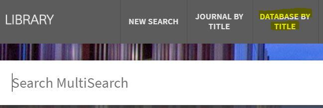 databaseByTitle above multisearch bar