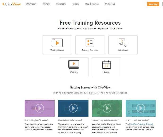 Clickview training resouces