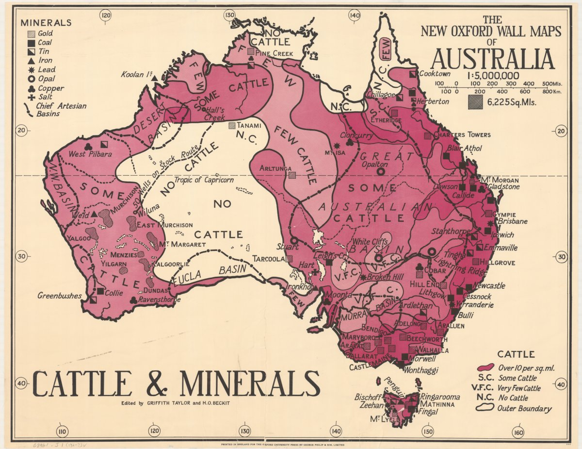 Cattle and minerals map