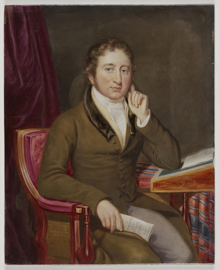John Thomas Bigge, 1819? / portrait after Thomas Uwins