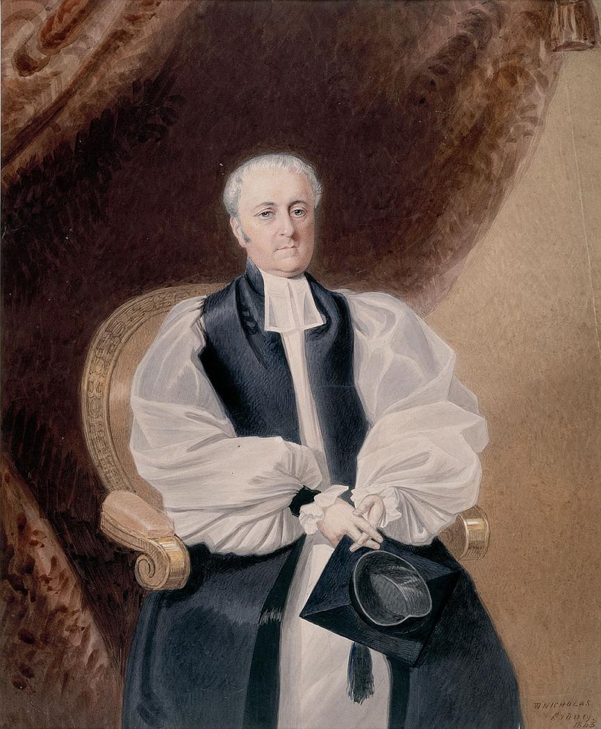 Bishop William Grant Broughton, 1843 / W. Nicholas
