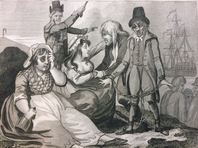 Black-eyed Sue, and Sweet Poll of Plymouth taking leave of their lovers who are going to Botany Bay, 1794 / Publishers Laurie & Whittle