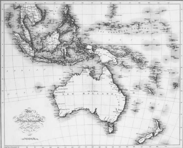 East Indies, Australia, New Zealand, Melanesia 1821 (Maps and Plans – Series 1 CO 700/8)