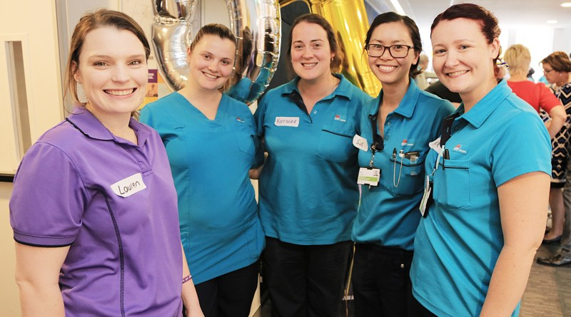 Occupational Therapists Lauren Nugent, Lisa Brimble, Kirralee Gale, Sue Chang and Alexandra Goodwin