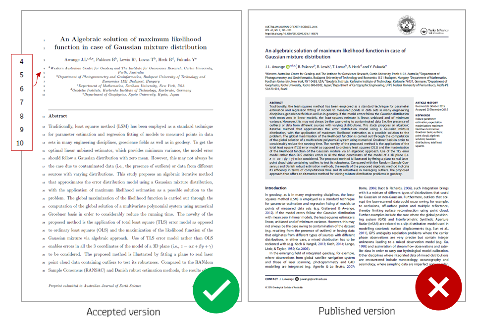 Example 1 of accepted version and published version of a journal article