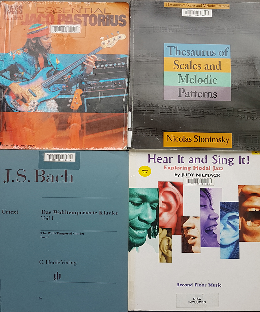 A selection of music scores