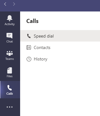 The calls app allows you have one on one conversations with your contacts