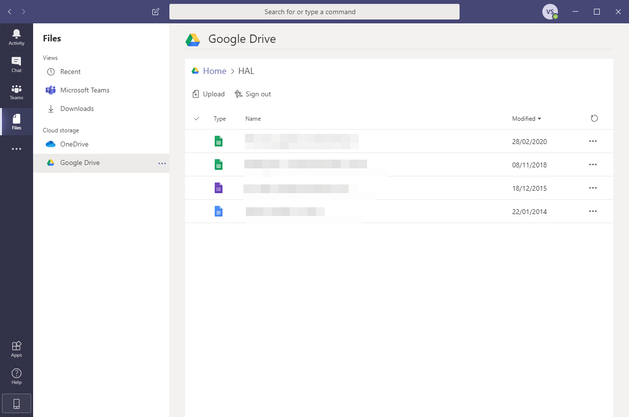 Google Drive can be viewed from within the Files app