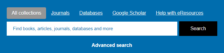 Library homepage Search Box