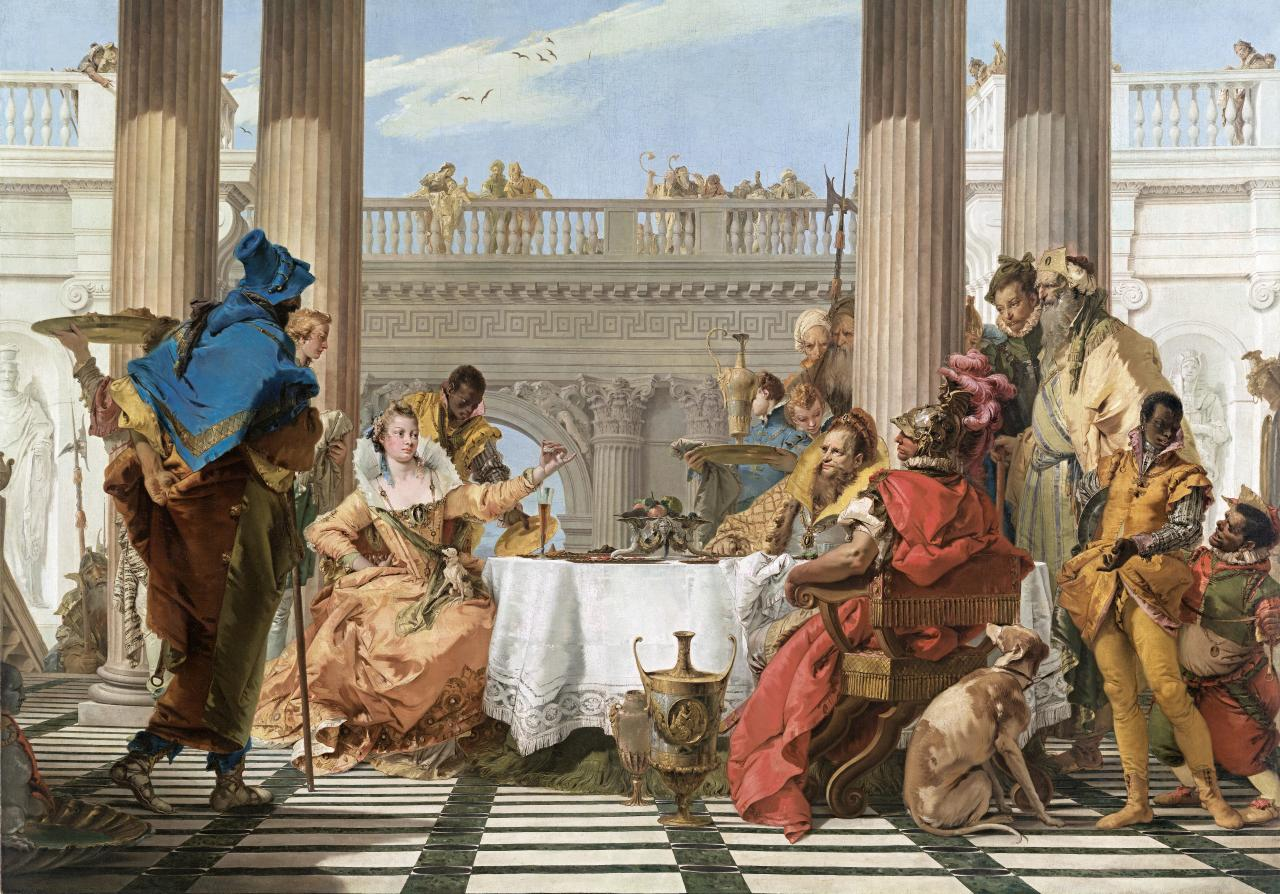 Image of Giambattista Tiepolo, The Banquet of Cleopatra, 1743-44