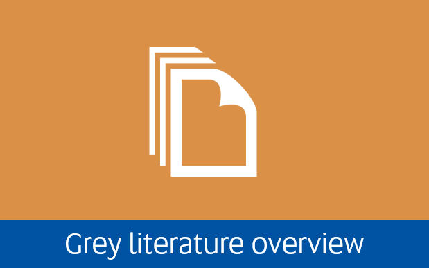 Navigate to Grey literature overview page