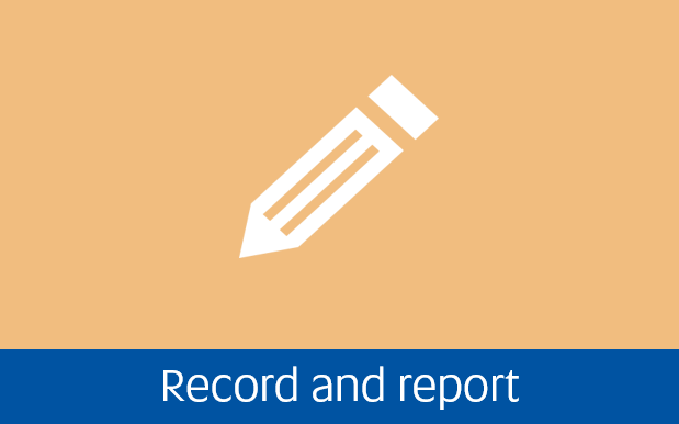 Navigate to record and report