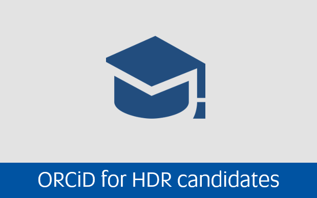 Navigate to Orcid for higher degree by research candidates page