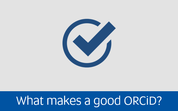 Navigate to what makes a good orcid page