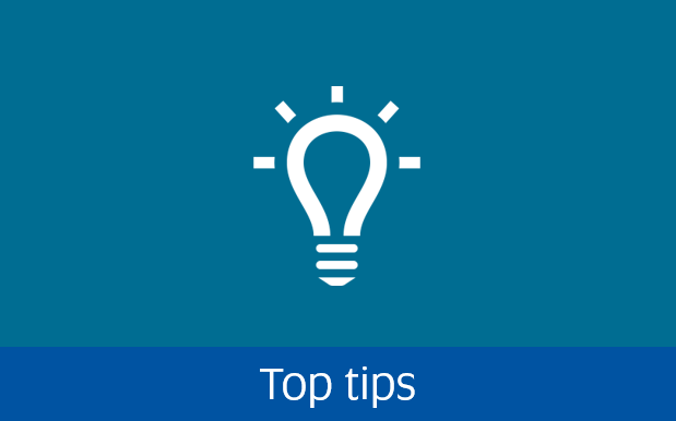 Navigate to top tips page