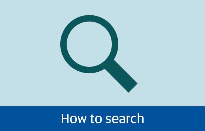 Navigate to How to search page