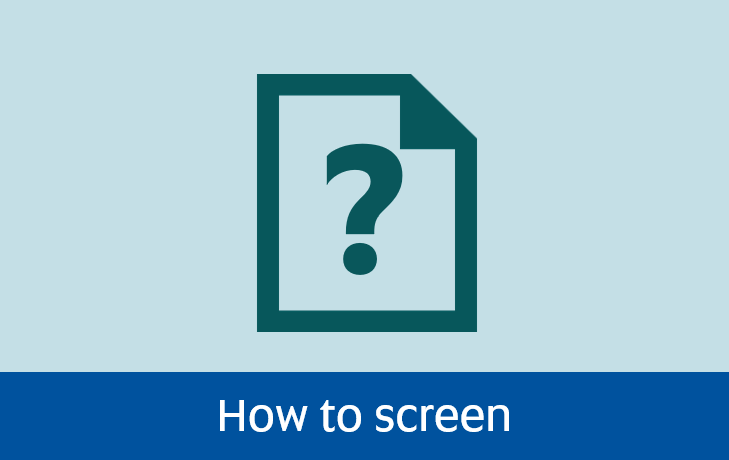 Navigate to how  to screen page