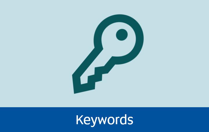 Navigate to Keywords page