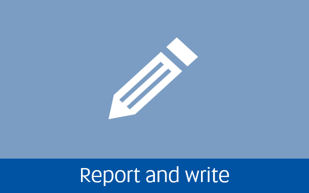 Navigate to report and write page