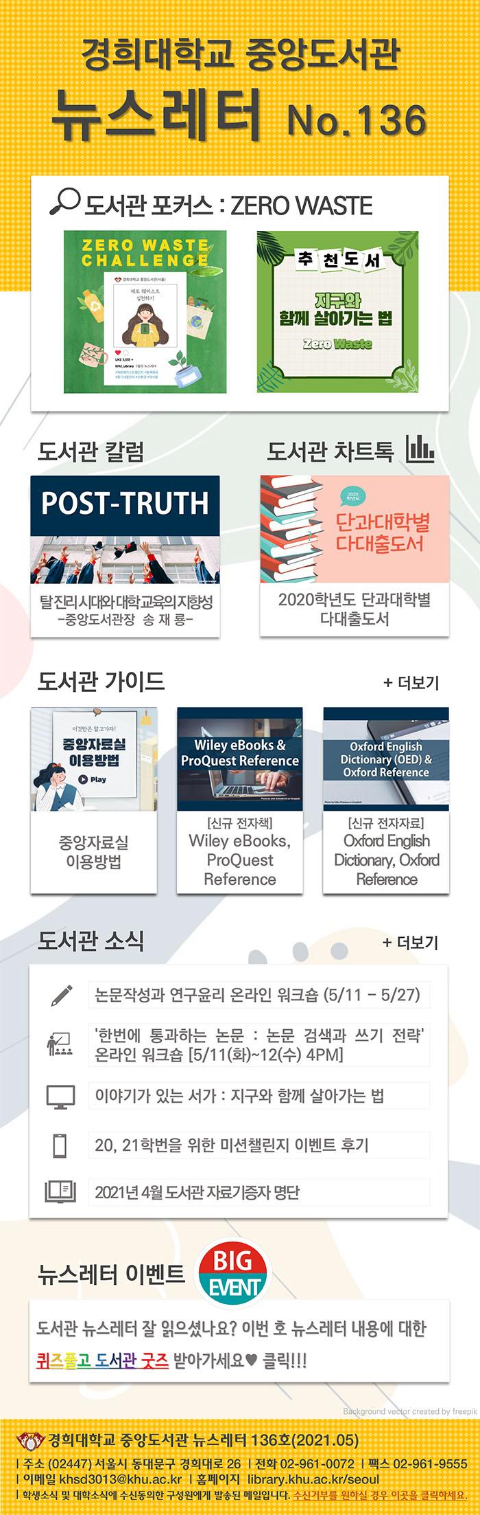 경희대 중앙도서관 뉴스레터 136호