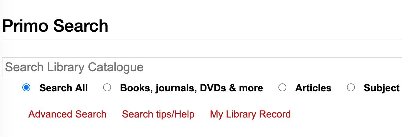 Charles Sturt University Library catalogue