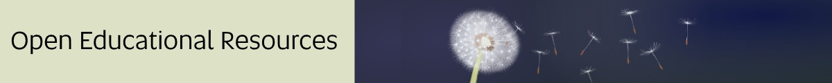 Open Educational Resources banner