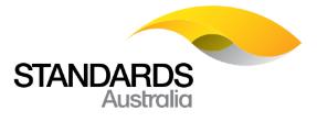 Navigate to Standards Australia website