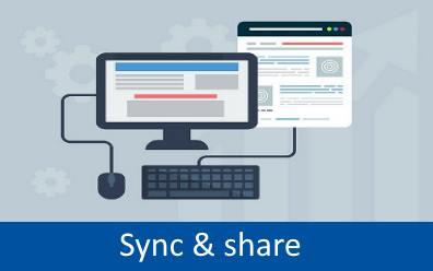 Sync & share tile