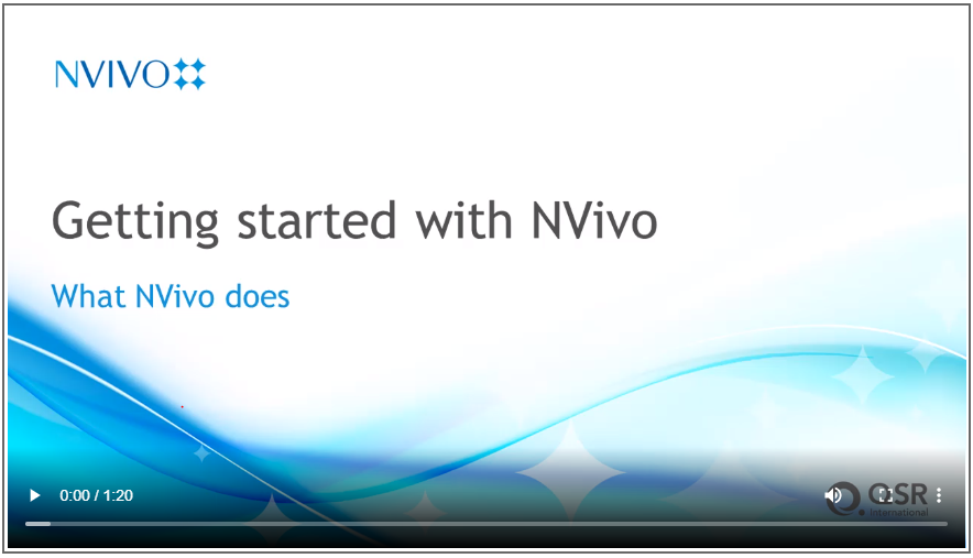 Link to Getting started with NVivo turorials