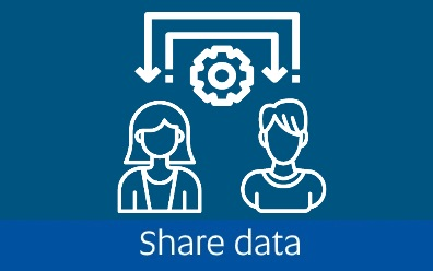 Navigate to the share data page within this guide