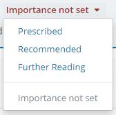 importance settings