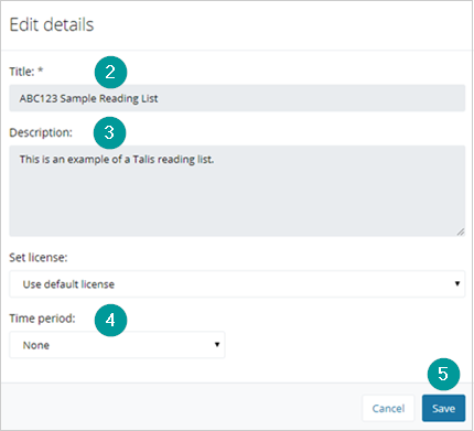 Edit details dialog box